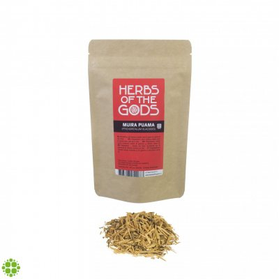 Herbs of the Gods Muira Puama (Ptychopetalum Olacoides) Shredded 80g